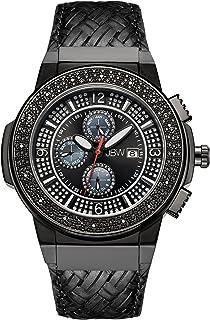 JBW Luxury Men's Saxon 16 Diamonds Multi-Function Swiss Movement Watch - JB-6101L-I