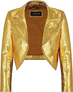 Carrie CH Hoxton Señoras Shinny Shrug de Cuero Recortado Slim-fit Chaqueta de Cuerpo Corto Bolero Style 5650