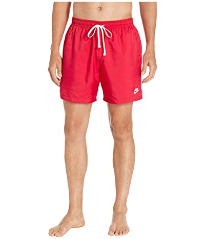 Nike NSW Woven Flow Shorts (Ember Glow/White) Men