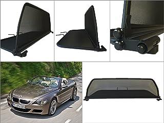 Negro - Plegable Deflector de Aire Parabrisas para descapotable Deflector de Viento con Cierre Rápido TiefTech Deflector de Viento para BMW Serie 2 F23 Descapotable 2013 en adelante