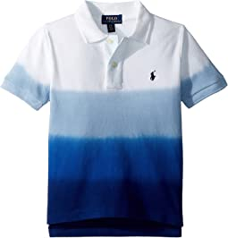 Dip-Dyed Cotton Mesh Polo (Toddler)