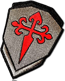 St Saint James Warrior Soldier Cross Symbol Symbolic Icon Sharp Pointed Armor Military Swat Stealth Knight Shield Badge Hook & Loop Fastener Patch [3