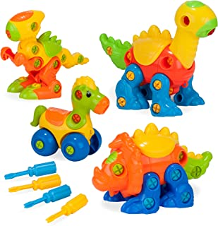 Creative Kids Build & Learn Dinosaur Take Apart Toy Set Wit Tools Interlocking STEM Educational Construction Kit for Preschool, Kindergarten, Boys Age 3+