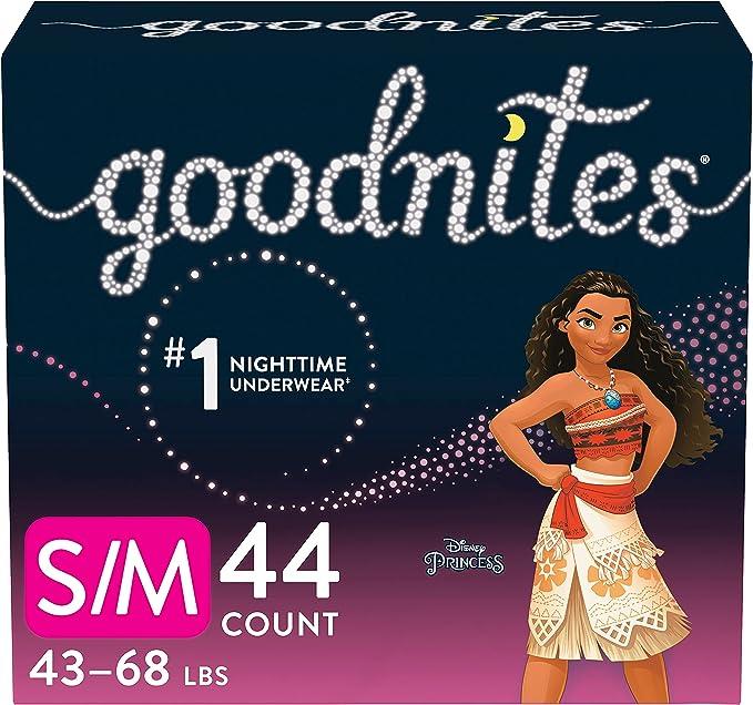 Goodnites Nighttime Bedwetting Underwear, Girls' S/M (43-68 lb.), 44 Ct