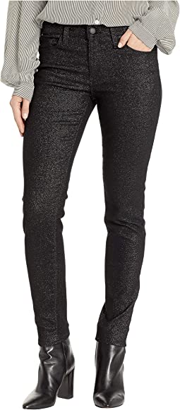 Nico Mid-Rise Ankle Skinny Jeans in Silver Stellar