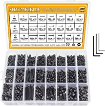 M2 M3 M4 Alloy Steel Screws Nuts and Washers 1200PCS, Sutemribor Hex Socket Head Cap Bolts Screws Nuts Washers Assortment Kit with Hex Wrenches