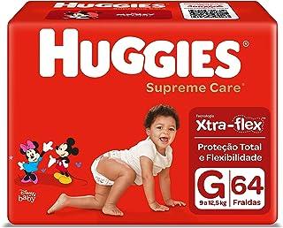 Fralda Huggies Supreme Care G - 64 fraldas