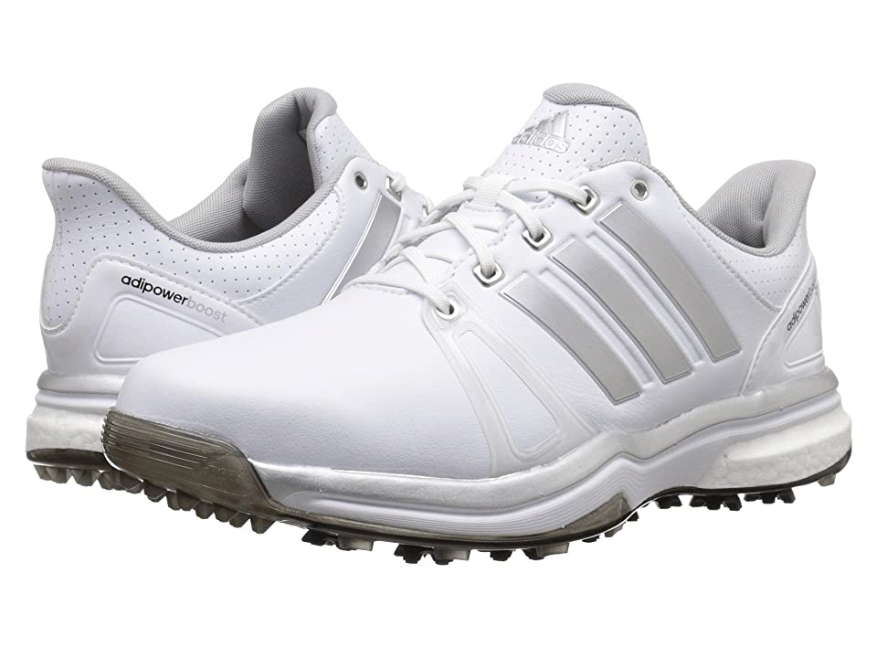 Image of adidas Golf Adipower Boost 2 (Ftwr White/Silver Metallic/Core Black) Men's Golf Shoes