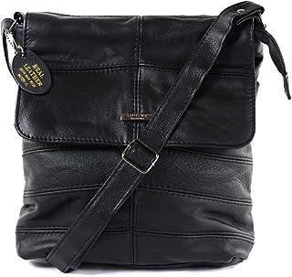 Ladies Leather Cross Body Bag/Shoulder Bag (Black, Tan, Dark Brown)