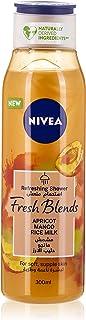 NIVEA Fresh Blends Shower Gel, Apricot Mango Rice Milk, 300ml