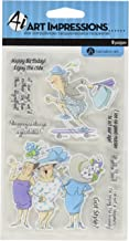 "Hampton Art SC0678 Art Impressions People Clear Rubber Stamps, 4"" x 6"", Got Style, Clear"