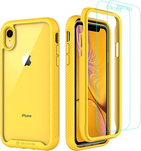 CellEver Compatible with iPhone XR Case, Clear Full Body Heavy Duty Protective Case Anti-Slip Full Body Transparent C...