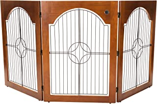 (Cherry, Cherry Stain) - Majestic Pet 788995041139 Universal Free Standing Pet Gate Wire Insert and Cherry Stain