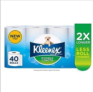 KLEENEX Double Length Toilet Tissue, 40 Rolls