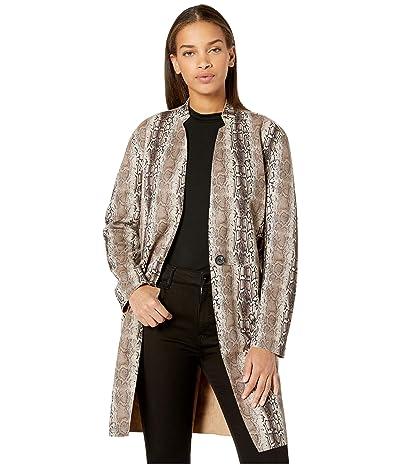 Blank NYC Snakeskin Faux Suede Coat (Snake Charmer) Women
