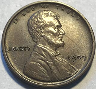 1909 P Lincoln First Year Of Wheat Wheat Penny Cent AU-55
