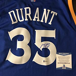 Kevin Durant Autographed Signed Memorabilia Warriors Crossover Authentic Swingman Jersey Bas Beckett Coa