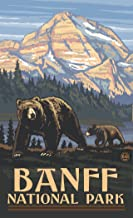 "Northwest Art Mall PAL-4694 RGB Banff National Park Canada Grizzly Bears Print by Artist Paul A. Lanquist, 11"" x 17"""