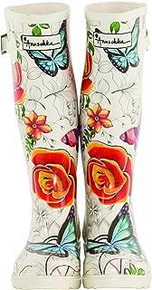 Women's Printed and Adjustable Rain Boot
