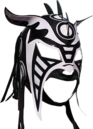 Deportes Martinez Hysteria Lycra Lucha Libre Luchador Mask Adult Size Black & White