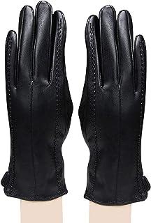Bongio Womens designer Gloves Black