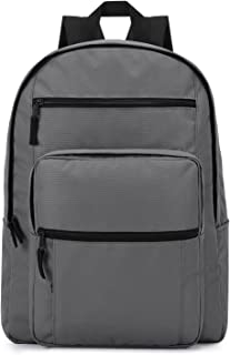 Plambag Big Boys' Backpack Classic Waterproof Lightweight Laptop School Bag Large Gray