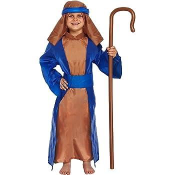 Disfraz infantil Pastor Azul Grande 10-12 AÑOS: Amazon.es ...