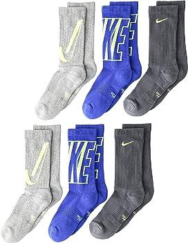 Nike Kids Performance Cushioned Crew Training Socks 3-Pair Pack