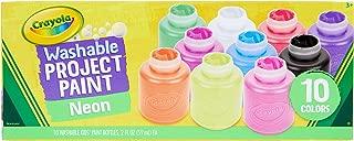 Crayola Washable Kids Paint, 10 Neon Paint Colors, 2oz Bottles, Gift