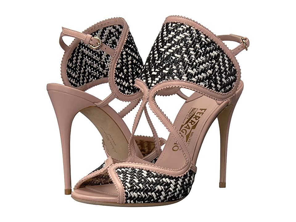 d795c839f5c6df Salvatore Ferragamo Elisea Twist (Bianco Nero Nappa Leather) High Heels