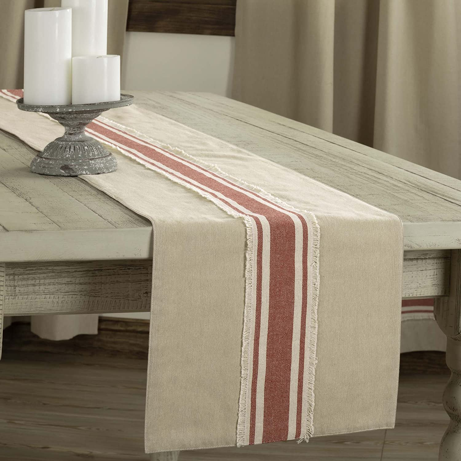 Farmhouse Red Grain Max 42% Limited time for free shipping OFF Sack Stripe Table 13