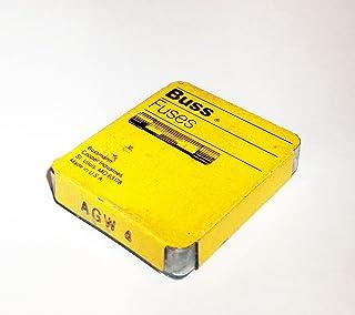 "Bussmann AGW-4 1/4"" X 7/8"" AGW Automotive Glass Fuse 4 Amp, 5 Pack"