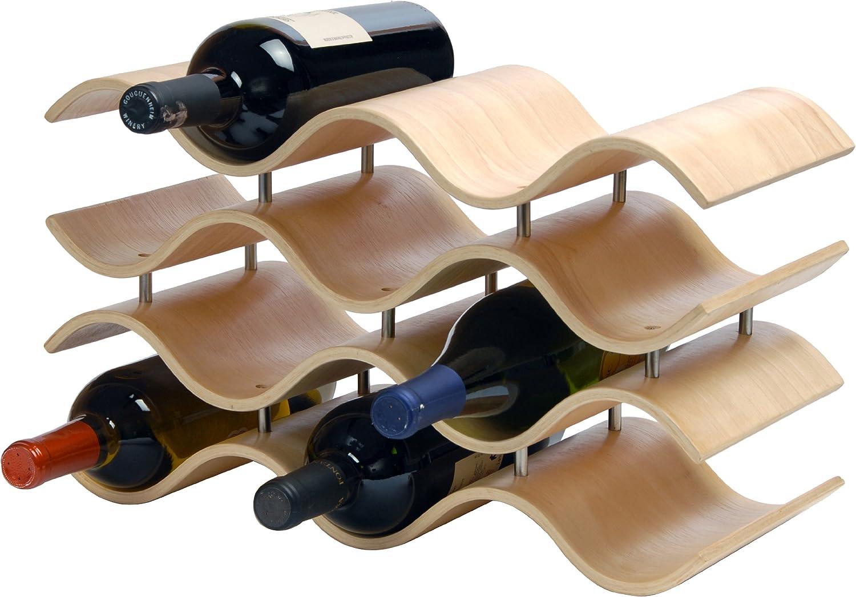 Oenophilia Bali Wine Rack Modern Contemporary 10 Bottle Natural