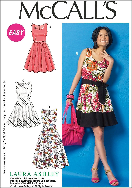 McCall Pattern Company M6955 Misses' Dresses and Belt, Size E5 1416182022