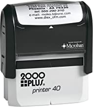 New Cosco 2000 Plus Printer 40 Up to 5 line bank endorsement stamp, This Self Inking Stamp include address, endorsement and custom message