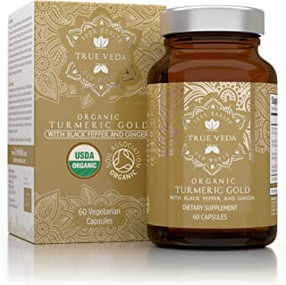Organic Turmeric Curcumin Capsules - Includes Organic Ginger and Black Pepper Extracts | Certified Organic by USDA | 100% ...