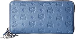 Klara Monogrammed Leather Charm Zipped Wallet Large
