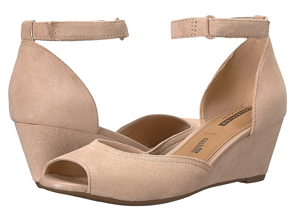 05b36b0fd3f4 Clarks Flores Raye (Sand Suede) Women s Wedge Shoes - 4210264 9 B Medium by  Clarks