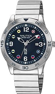 Nautica Men's Quartz Brass Strap, Silver, 20 Casual Watch (Model: NAPPAS101)