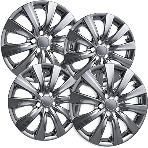 wholesale OxGord Hubcaps for 11-13 Toyota Corolla (Pack of 4) outlet sale new arrival Wheel Covers 16 Inch- Chrome outlet online sale