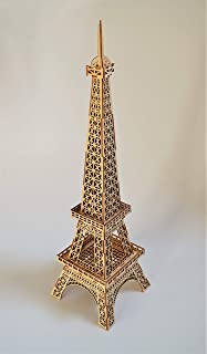 Eiffel Tower Wooden Jigsaw Puzzle Kids Room Decor Home Decor DIY Kit Eco Friendly Wooden Toys Wooden Sculpture Birthday Gift for Him Her