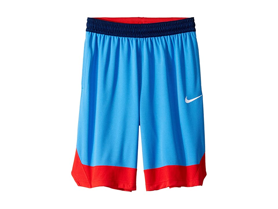 Nike Dry Icon Shorts (Pacific Blue/University Red/White) Men