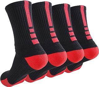 جوارب كرة السلة Finerview Elite ، حزمة من 4 جوارب رياضية للرجال والنساء