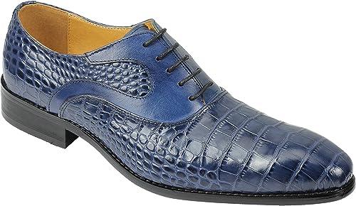 Xposed Chaussures de Ville à Lacets pour Homme Bleu Bleu