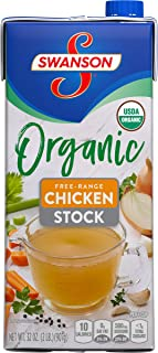 Swanson Organic Free-Range Chicken Stock, 32 oz. Cartons (Pack of 12)