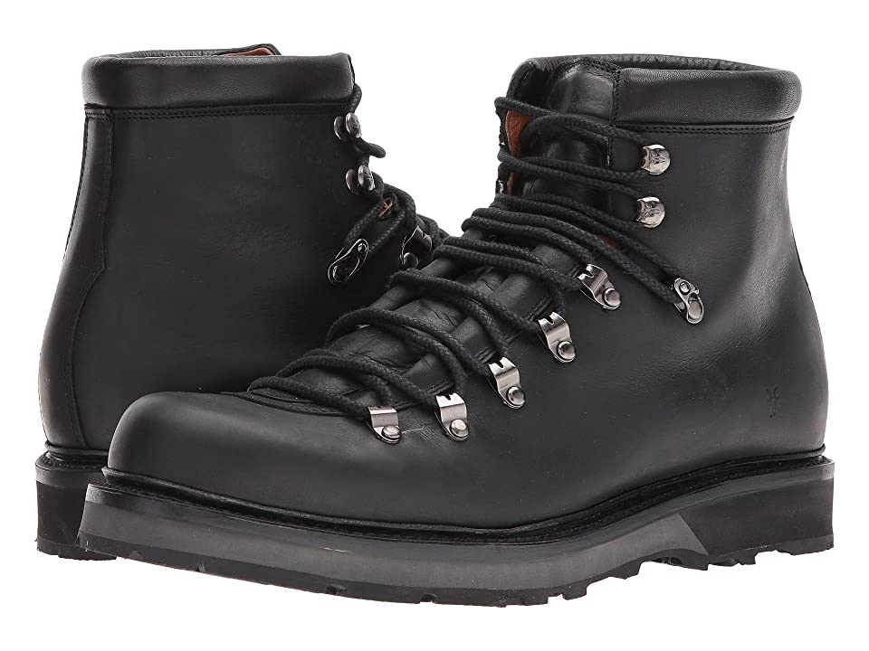Frye Woodson Arctic Grip (Black Smooth Full Grain/Soft Vintage Leather) Men