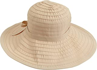 Women's Ribbon Large Brim Hat