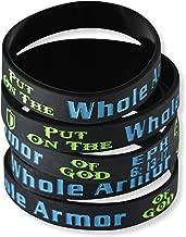 Forge Put on The Whole Armor of God Ephesians 6:13-17 Silicone Bracelet Wristbands