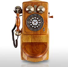 Pyle PRT45 Retro Antique Country Wall Phone - Retail Packaging - Wood photo
