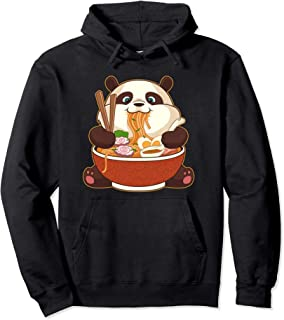 Kawaii Cute Anime Panda Otaku Japanese Ramen Noodles Gift Pullover Hoodie